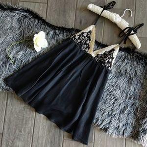 Victoria's Secret black silk babydoll